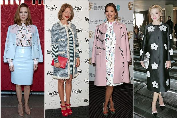 Dona de um estilo clássico, Lea Seydoux adora combinar casaco e vestido (Foto: Getty Images)