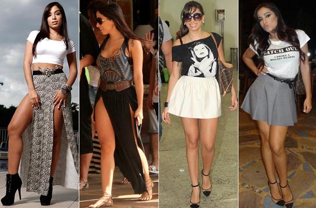 Anitta e seus modelitos comportados